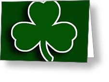 Boston Celtics Greeting Card by Tony Rubino