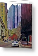 Boston City Centre 2 Greeting Card by Yury Malkov