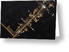 Boston City Skyline Greeting Card by Corporate Art Task Force