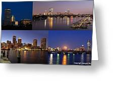 Boston City Skyline Greeting Card by Juergen Roth