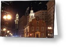 Boston History Greeting Card by Joann Vitali