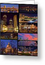Boston Nights Collage Greeting Card by Joann Vitali