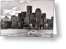 Boston Greeting Card by Olivier Le Queinec
