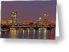 Boston Redline Greeting Card by Juergen Roth