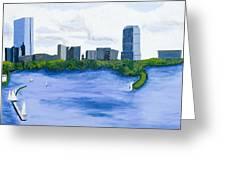 Boston Skyline Greeting Card by Carmela Cattuti