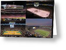 Boston Sports Teams And Fans Greeting Card by Juergen Roth