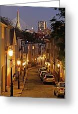 Boston View From Charlestown Greeting Card by Juergen Roth
