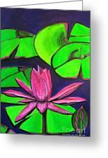 Botanical Lotus 1 Greeting Card by Grace Liberator