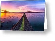 Both Forth Bridges Greeting Card by John Farnan
