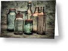 Bottles II Greeting Card by Timothy Bischoff