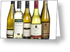 Bottles Of New Zealand Wine Greeting Card by Colin and Linda McKie