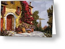 Bouganville Greeting Card by Guido Borelli