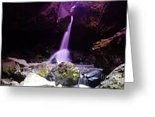 Boulder Cave Falls Greeting Card by Jeff  Swan
