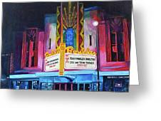 Boulder Theater Greeting Card by Tom Roderick