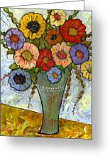 Bouquet Of Flowers Greeting Card by Blenda Studio