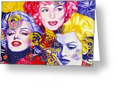 Bouquet Of Marilyn Greeting Card by Rebecca Glaze