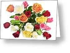 Bouquet Of Roses From Above Greeting Card by Elena Elisseeva