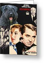 Bouvier Des Flandres - Flanders Cattle Dog Art Canvas Print - Suspicion Movie Poster Greeting Card by Sandra Sij