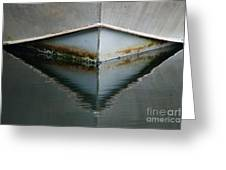 Bow Reflection Greeting Card by Ron Pettitt