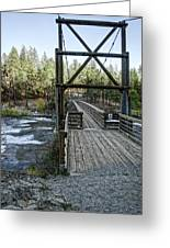 Bowl And Pitcher Bridge - Spokane Washington Greeting Card by Daniel Hagerman