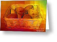 Bowls In Basket Moderne Greeting Card by RC deWinter