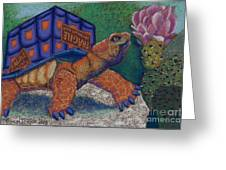 Box Turtle Greeting Card by Tracy L Teeter