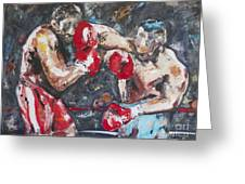 Boxers Greeting Card by Garth Bayley