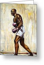 Boxing Greeting Card by Emery Franklin