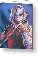 Boyd Tinsley Colorful Full Band Series Greeting Card by Joshua Morton