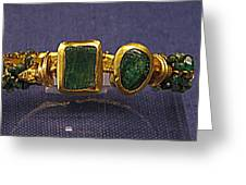 Bracelet With Emeralds Greeting Card by Andonis Katanos