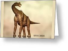 Brachiosaurus Dinosaur Greeting Card by Bob Orsillo