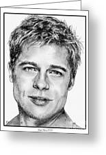 Brad Pitt In 2006 Greeting Card by J McCombie