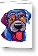 Brad The Labrador Greeting Card by Jill English