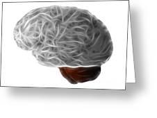 Brain Greeting Card by Michal Boubin