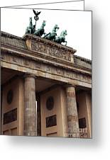 Brandenburg Gate Greeting Card by John Rizzuto