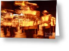 Brass Band At Night Greeting Card by James Brunker