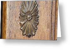 Brass Medallion Greeting Card by Michael Flood