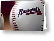 Braves Baseball Greeting Card by Ricky Barnard