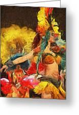 Brazilian Carnival Greeting Card by Ayse Deniz