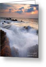 Break In The Storm Greeting Card by Mike  Dawson