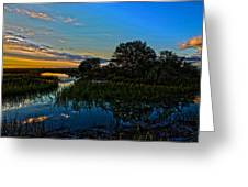 Break Of Dawn Over Low Country Marsh Greeting Card by Savlen Art