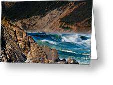 Breakers at Pt Reyes Greeting Card by Bill Gallagher
