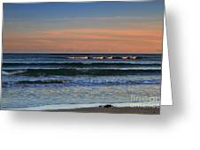 Breakers At Sunset Greeting Card by Louise Heusinkveld
