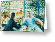 Breakfast By The River Greeting Card by Pierre-Auguste Renoir