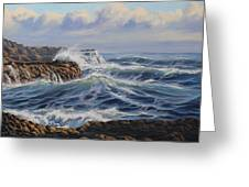 Breaking Waves At Whites Beach Greeting Card by Samuel Earp