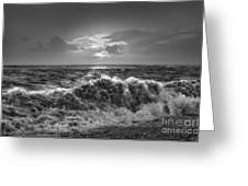 Breaking Waves Greeting Card by Curtis Radclyffe