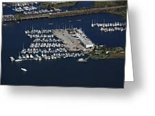 Brewer Yacht Yard, Mystic Greeting Card by Dave Cleaveland