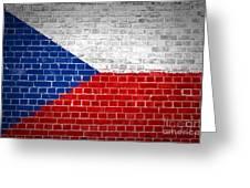 Brick Wall Czech Republic Greeting Card by Antony McAulay