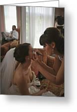 Bride Eyeliner Greeting Card by Mike Hope