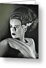 Bride Of Frankenstein Greeting Card by Joe Dragt
